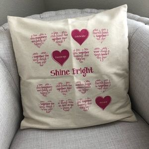 Thirty One Pillow Cover Natural NWTS Shine Bright!